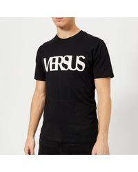 Versus  Black Original Logo T-shirt for men