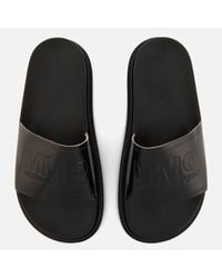 MM6 by Maison Martin Margiela - Black Slide Sandals - Lyst
