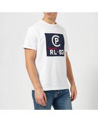 Polo Ralph Lauren White Regatta Jersey Logo Short Sleeve T-shirt for men