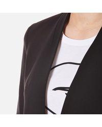 Karl Lagerfeld - Black Women's Ikonik Punto Blazer - Lyst
