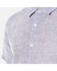 Orlebar Brown - Blue Men's Meden Short Sleeve Shirt for Men - Lyst