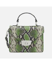Ganni - Green Gallery Top Handle Bag - Lyst