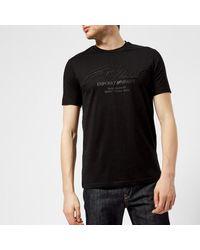 Emporio Armani - Black Men's Centre Logo Tshirt for Men - Lyst