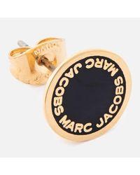 Marc Jacobs - Black Women's Enamel Logo Disc Studs - Lyst