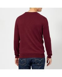 Polo Ralph Lauren Red Pima Cotton Crew Neck Knitted Jumper for men
