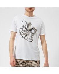Aquascutum - White Men's Weaver Octo Cc Print Short Sleeve Tshirt for Men - Lyst