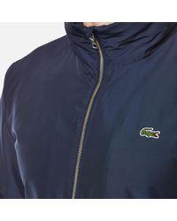 Lacoste - Blue Zipped Rain Jacket for Men - Lyst