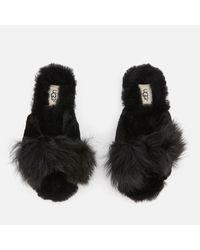 Ugg Black Mirabelle Sheepskin Slide Slippers