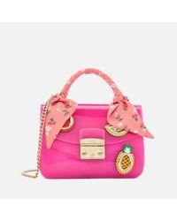 Furla - Pink Women's Candy Mini Cross Body Bag - Lyst