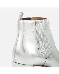 Marc Jacobs Metallic Rocket Heeled Chelsea Boots