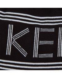KENZO Black Men's Sport Jacquard Socks for men