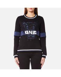 KENZO Black Women's Urban Tiger Molleton Sweatshirt