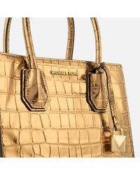 MICHAEL Michael Kors - Metallic Women's Mercer Croc Medium Messenger Bag - Lyst