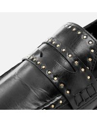Isabel Marant Black Women's Fezzy Loafers