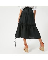 See By Chloé Black See By Chloe Women's Midi Frill Detail Skirt