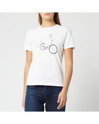 PS by Paul Smith White Dog On Bike T-shirt