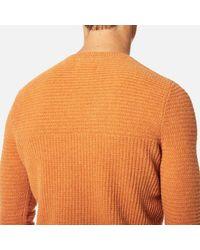 Folk - Orange Men's Panel Knitted Jumper for Men - Lyst