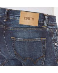 Edwin Blue Men's Ed85 Slim Tapered Drop Crotch Jeans for men