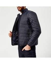 Emporio Armani - Blue Padded Jacket for Men - Lyst