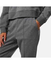 T By Alexander Wang Gray Dry French Terry Pull On Leggings