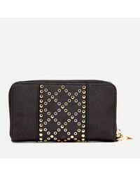 MICHAEL Michael Kors Black Women's Large Flat Leather Wristlet Phone Case