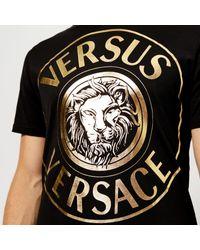 Versus  Black Round Logo T-shirt for men