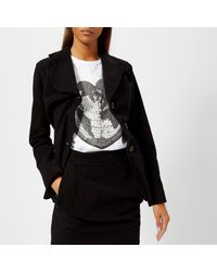 Vivienne Westwood Anglomania Black Alcoholic Fitted Jacket