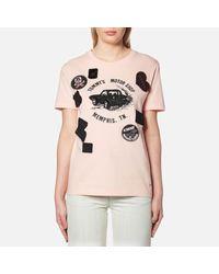 COACH Pink Women's Speedster Tshirt