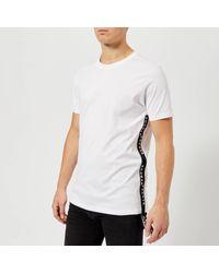 Versus  White Tape Logo T-shirt for men