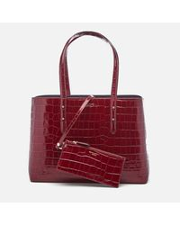 Aspinal | Red Women's Regent Croc Tote Bag | Lyst