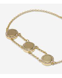 Cole Haan - Metallic Madison Avenue Pavé Round Swarovski Pull-tie Bracelet - Lyst