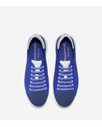 Cole Haan Blue Men's Grandprø Stitchlite Tennis Sneaker for men