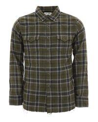 Camicia Western Check di Saint Laurent in Black da Uomo