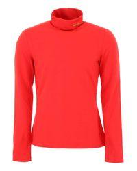 T-Shirt A Collo Alto di CALVIN KLEIN 205W39NYC in Red da Uomo