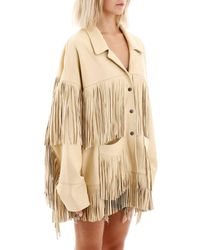 R13 Natural Fringed Jacket