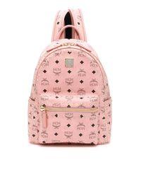 MCM Pink Studded Stark Backpack