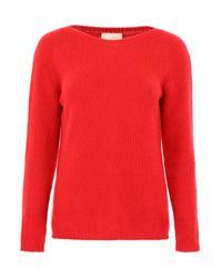 Max Mara Red Cashmere Pullover