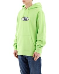 Stussy Green Logo Patch Hoodie for men