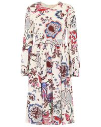 Tory Burch Multicolor Midi Dress With Print