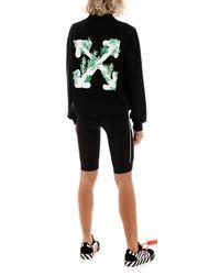 Off-White c/o Virgil Abloh Black Corals Print Regular Sweatshirt