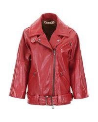 Marni Red Biker Jacket