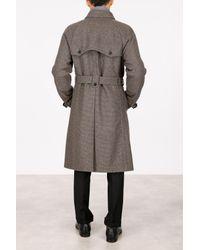 Prada - Multicolor Check Shetland Coat for Men - Lyst