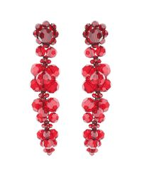 Simone Rocha Red Earrings With Crystals