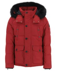 Moose Knuckles Red Round Island Down Jacket for men