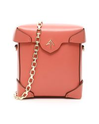 MANU Atelier Pink Mini Pristine Bag With Chain