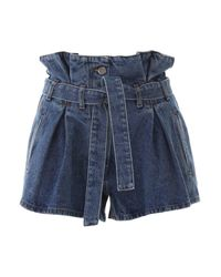 The Attico Blue Denim Shorts