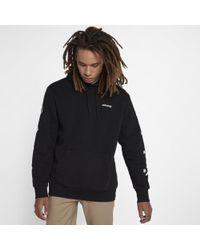 Converse Black Star Chevron Graphic Pullover Men's Hoodie for men