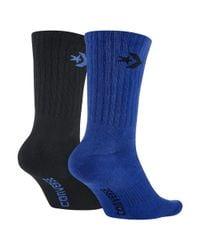 Converse - Crew Men's Socks (2 Pair) (blue) for Men - Lyst
