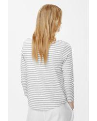COS Gray 3/4-sleeve Cotton T-shirt
