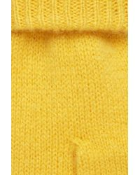 COS Yellow Cashmere Mittens